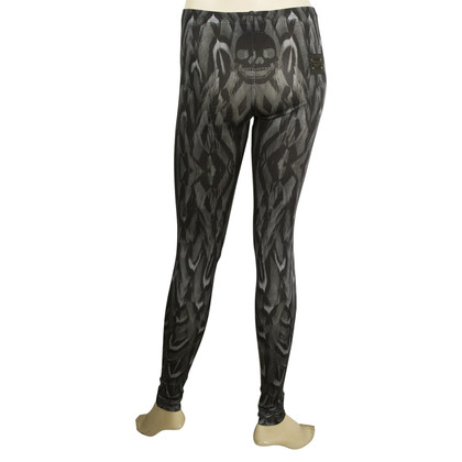 Philipp Plein Leggins Skull Grey Black Skinny broek