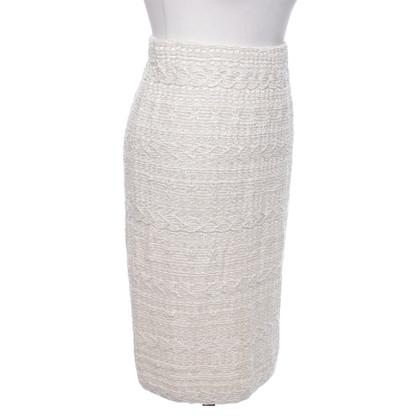 St. John skirt in cream / white