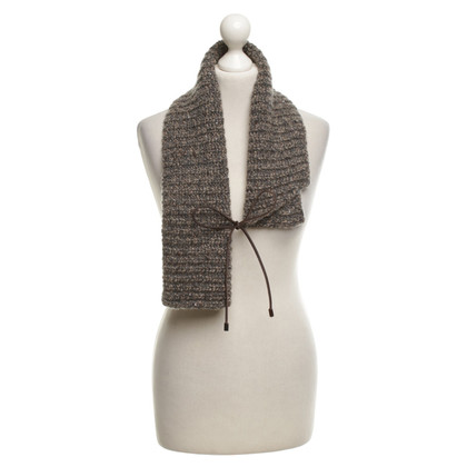 Brunello Cucinelli Short scarf in melange look