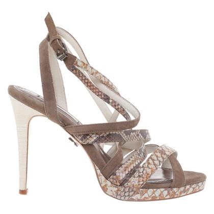 Schumacher Sandals in reptile look