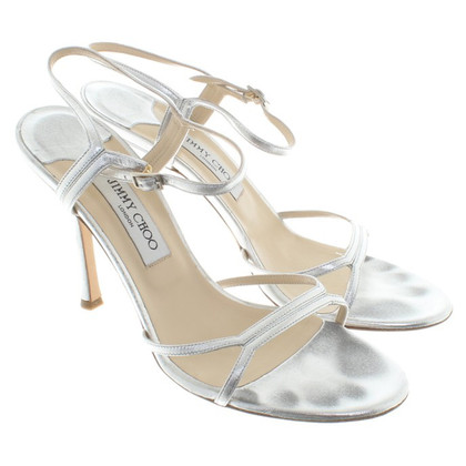 Jimmy Choo Silver-colored sandals