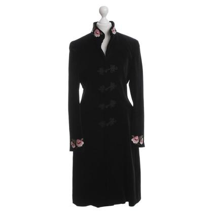 Blumarine Cappotto di velluto nero