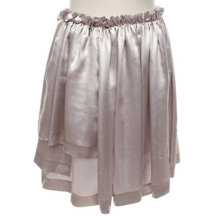 Rochas skirt with glitter coating