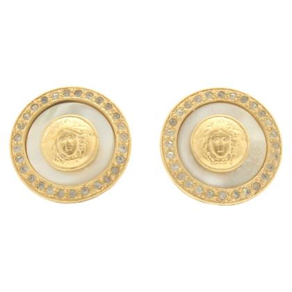Gianni Versace Clips d'oreilles de couleur or