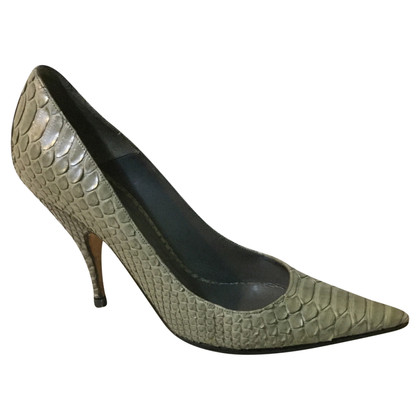 Christian Dior pumps made of python leather
