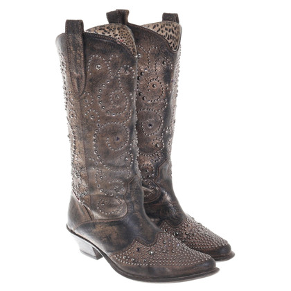 Roberto Cavalli Cowboy boots with used look