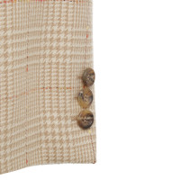 Escada Lange blazer met plaid patroon