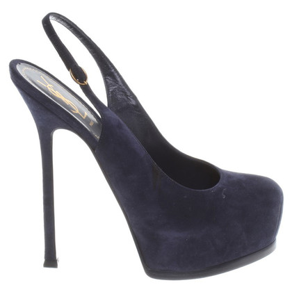 Yves Saint Laurent Wild leatherpumps in night blue