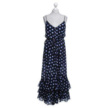 Moschino Kleid in Blau/Weiß