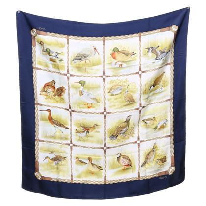 Gucci Zijden sjaal met motiefprint