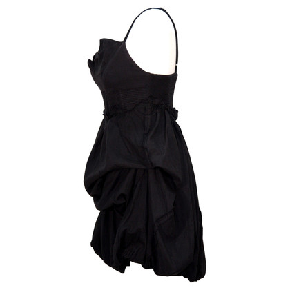 All Saints Asymmetrisches Kleid in Schwarz