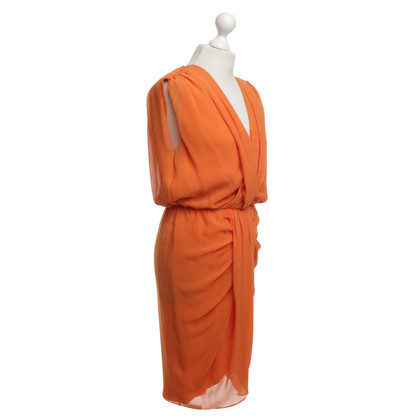 Escada zijden jurk in Orange
