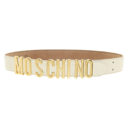 Moschino Belt in creamy white