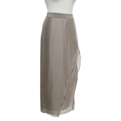 Brunello Cucinelli Silk skirt in taupe
