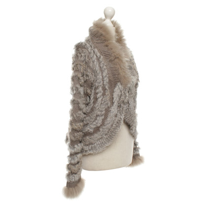 Other Designer Malvin - cardigan with fur trim