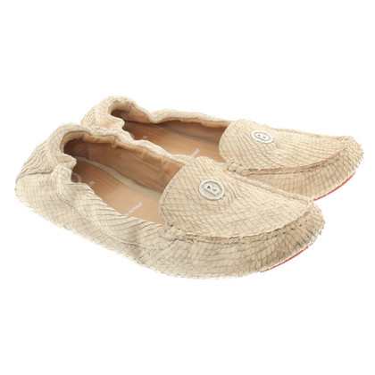 Bogner Slipper con rettile embossment