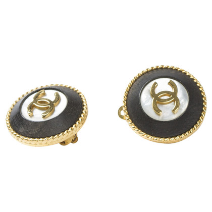 Chanel Round Clip Earrings