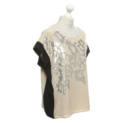 JOOP! Blouse shirt in beige / black