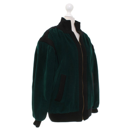 Saint Laurent Cord bomber jacket in dark green