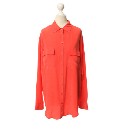 Equipment Zijden blouse in koraal rood