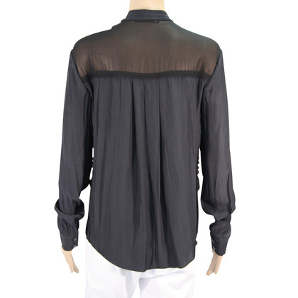 All Saints Zijden blouse in zwart