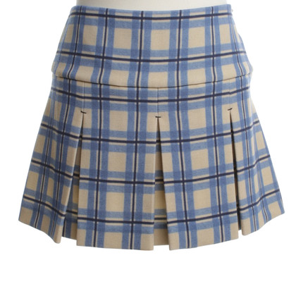 Miu Miu Short skirt with check pattern