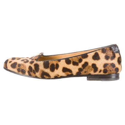 Gucci Pantofole di pelliccia pony con Leopard stampa