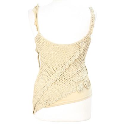 Karen Millen Lace top in beige