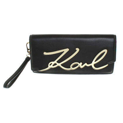 Karl Lagerfeld clutch in black