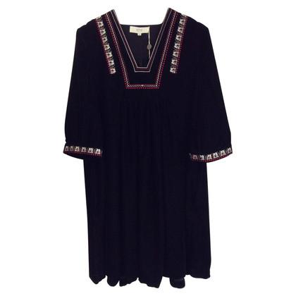 Vanessa Bruno Velvet dress with embroidery