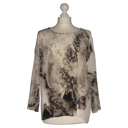 Luisa Cerano Silk shirt with print