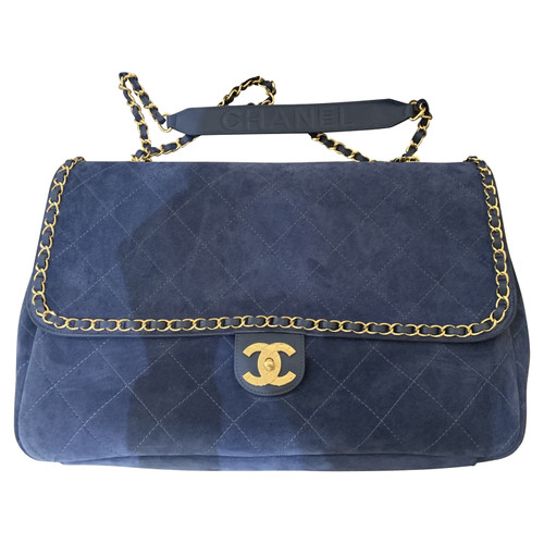 bcf97712706469 Chanel Chanel X Pharrell - Tote bag Suede in Blue - Second Hand ...
