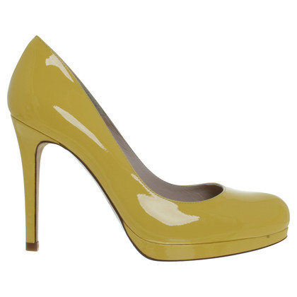 L.K. Bennett Patent leather Pumps in yellow