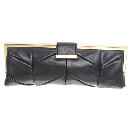 Miu Miu clutch with graphical seams