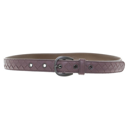 Bottega Veneta Leather Belt in Mauve