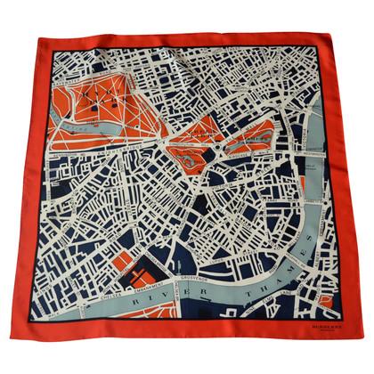 Burberry Prorsum Zijden sjaal met ruitpatroon