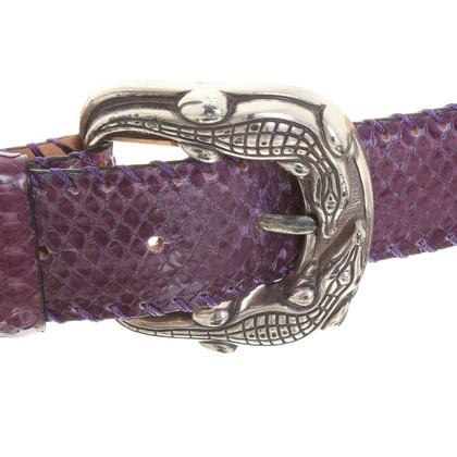 Reptile's House Pythongürtel in Violett