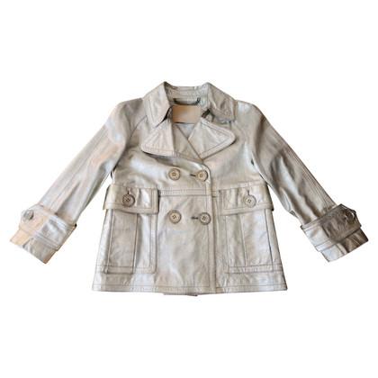 Burberry giacca di pelle metallizzata