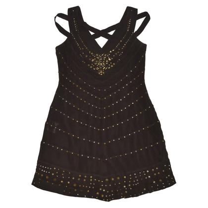 Karen Millen Brown Silk Dress
