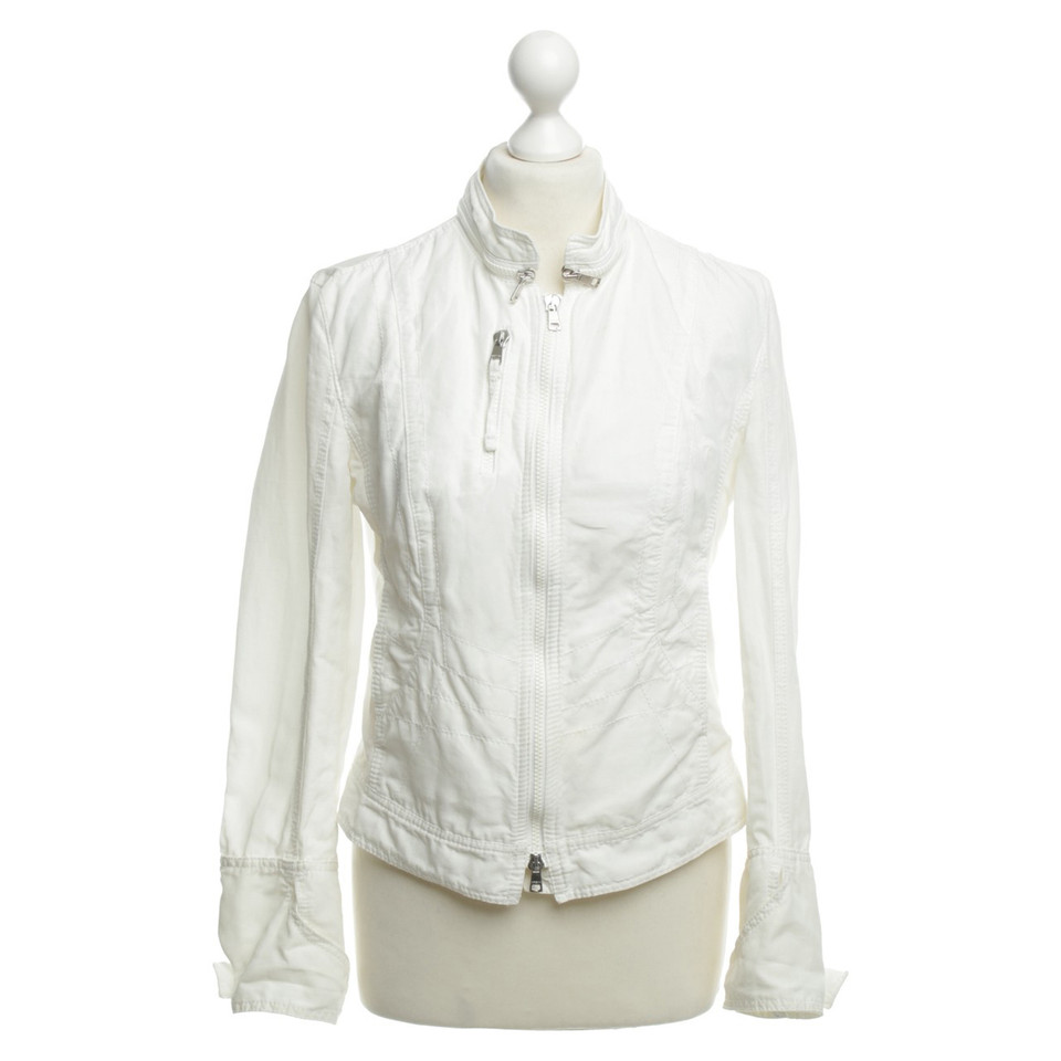 marc cain jacket in white buy second hand marc cain. Black Bedroom Furniture Sets. Home Design Ideas