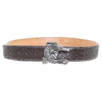 Reptile's House Crocodile leather belt