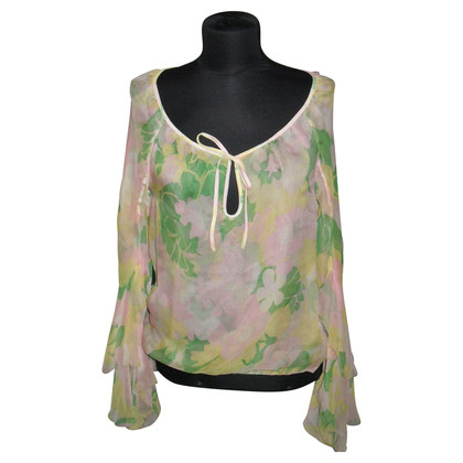 Paul & Joe Floral print silk blouse