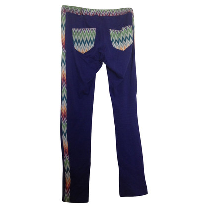 Missoni Missoni dames leggings blauw / zigzag