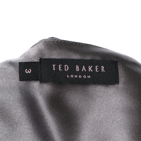 Seidenkleid Grau Grau Baker Baker Ted Seidenkleid in Grau Ted in Grau Baker Ted WFxpzOq