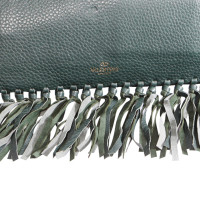 Valentino clutch with fringes