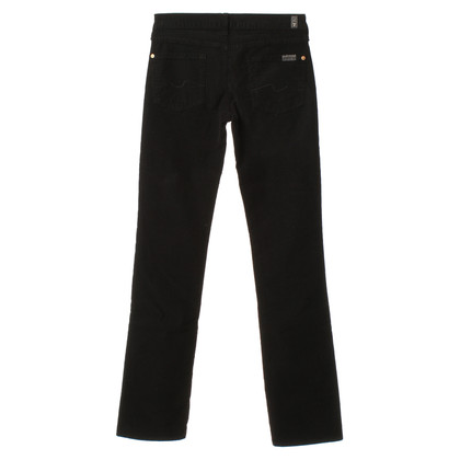 7 For All Mankind Corduroy trousers in black