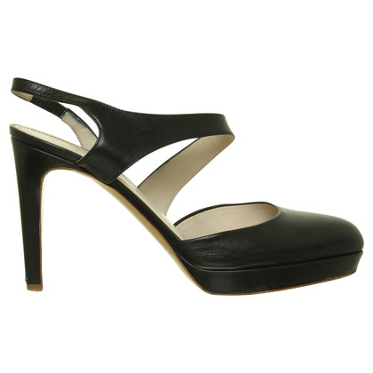 Jil Sander Slingback pumps in zwart