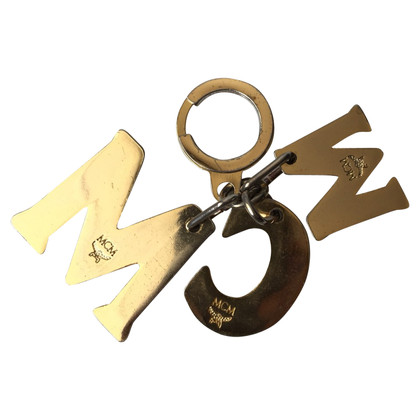 MCM Porte-clés de couleur or