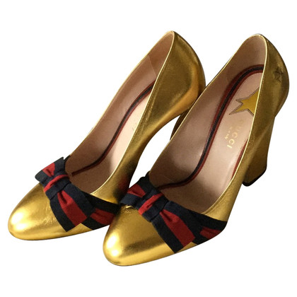 gucci used. gucci gold shoes used