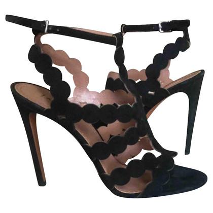 Alaïa suède sandalen